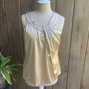 Penta silk & spandex top in Gold tone